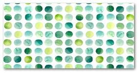 Foto obraz akrylové sklo Zelené bodky pl-oa-140x70-f-121386778