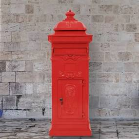 vidaXL Hliníková poštová schránka vo vintage štýle odolná voči hrdzi červená