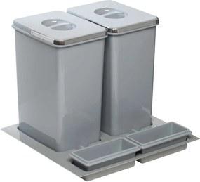 Odpadkový kôš Sinks PRACTIKO 600 2x20l + 2x miska