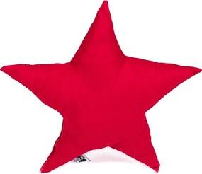Dekoračný vankúš Hviezda, červená