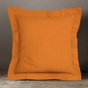 Goldea bavlnená obliečka na vankúš s ozdobným lemom - oranžová 30 x 50 cm