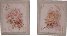 Sada 2 obrazov Antic Line Roses, 25,5 x 30,5 cm
