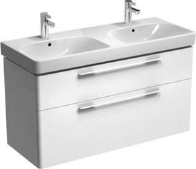 Kúpeľňová skrinka pod umývadlo KOLO Traffic 116,8x62,5x46,1 cm biela lesk 89441000