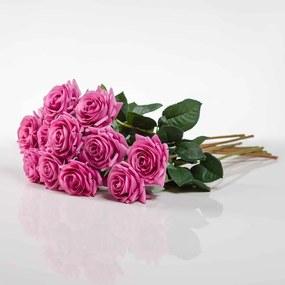Umelá ruža RUŽENA cyklámenová. Cena uvedená za 1 kus.