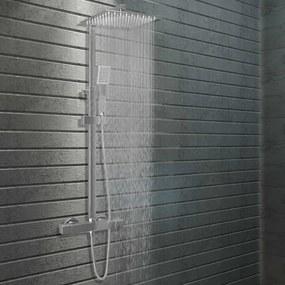vidaXL Sada dvojitých sprchových hlavíc s termostatom nehrdzavejúca oceľ
