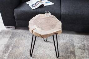 Štýlový odkladací stolík z prírodného dreva Nature - 45 cm