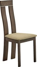 Drevená stolička, buk merlot/hnedá látka, DESI