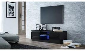 TV stolík LCD glass 140 cm čierna lesklá