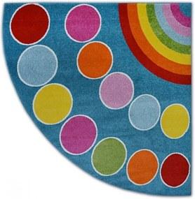Detský kusový koberec Dúha modrý, Velikosti 200x200cm