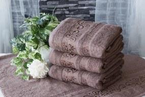 XPOSE ® Bambusový ručník CATANIA - světle hnědá 50x90 cm