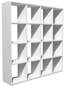 Knižnica, 138,5x29x142,5 cm, biela