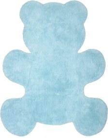 Detský modrý koberec Nattiot Little Teddy, 80 × 100 cm