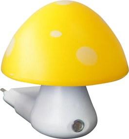 Detské svietidlo do zásuvky Huba, žltá farba