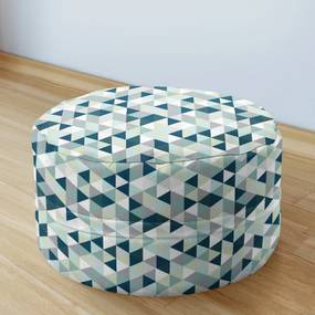 Goldea bavlnený sedacie bobek 50x20cm - vzor mintové a zelené trojuholníky 50 x 20 cm