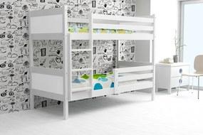 Poschodová posteľ RINO 200x90cm - Biela - Biela (BEZ zásuvky) e2a568705eb