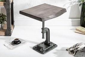 IIG -  Odkladací príručný stolík FACTORY 43 cm akácia, šedý