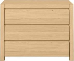 Komoda Woody 3S - dubová dýha
