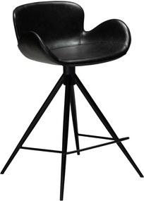 Barová stolička z eko kože v čiernej farbe DAN–FORM Denmark Gaia, výška 87 cm
