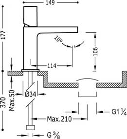TRES - Umývadlová jednopáková batéria (21110302NMD)