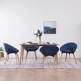 vidaXL Jedálenské stoličky 4 ks modré látkové