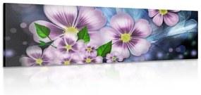 Obraz fialová fantázia kvetov