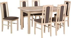 Stôl WENUS II L + stoličky BOSS VII (6ks.) - súprava DX15