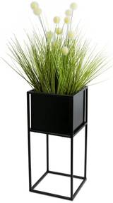 DekorStyle Květinový stojan Willa 50 cm černý