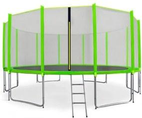 AGA SPORT PRO trampolína 460 cm s vonkajšou ochrannou sieťou svetlozelená , rebrík , vrecko na obuv