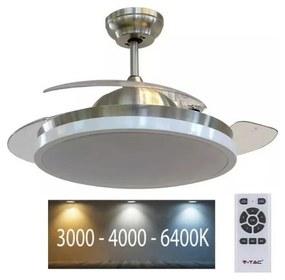 V-Tac LED Stropné svietidlo s ventilátorom LED/30W/230V 3000/4000/6400K + DO VT0541