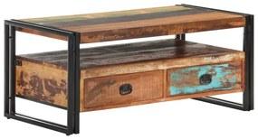 vidaXL Konferenčný stolík 100x55x45 cm masívne recyklovaného drevo