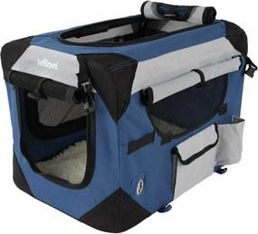 Kennel prepravka pre psa, modrá, 50 x 35 x 35 cm