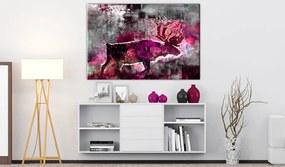 Obraz ružová abstrakcia - Ruby Caribou