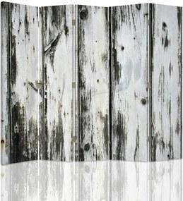 CARO Paraván - Old Boards   päťdielny   obojstranný 180x180 cm