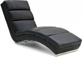 Leňoška HERA textilná koža čierna