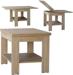 Moderný konferenčný stolík rozkladací výber dekoru Javor