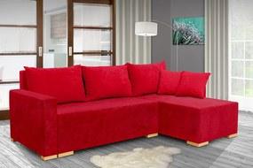 Nabytekmorava Rozkladacia sedacia súprava Jenifer farba korpusu: červená 46, farba vankúšov: červená 46
