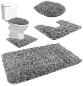 ISO Kúpeľňová a WC predložka 80x50cm 3ks, šedá, 8312