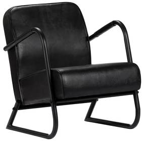 vidaXL Relaxačné kreslo čierne pravá koža