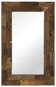 vidaXL Zrkadlo, recyklovaný masív 50x80 cm