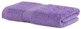Bavlnený uterák DecoKing Mila 30 × 50 cm fialový