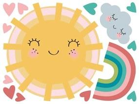 Sada samolepiek na stenu Ambiance Sun, Clound and Rainbow