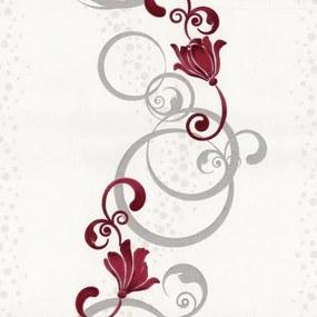 Vliesová tapeta, kvety červené, Pure and Easy 1328720, P+S International, rozmer 10,05 m x 0,53 m