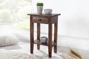 Bighome - Odkladací stolík HEWING - kávová