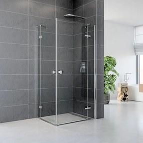 Mereo Fantasy CK10215HVR sprchový kút štvorec, 90x90 cm, chróm ALU, sklo Číre