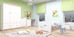 Happy Babies Detská posteľ Happy dizajn/oblak,hviezda,mesiačik Farba: svetlá hruška, Rozmer.: 200 x 90 cm