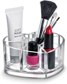 Organizér na kozmetiku v tvare srdca Domopak Make Up