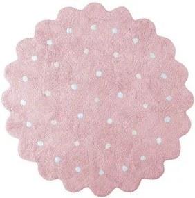 lovel.sk Okrúhly koberec  Galletita Pink