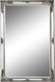 Zrkadlo, strieborný drevený rám, MALKIA TYP 6