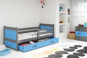 BMS Group Jednolôžková posteľ RICO - so zásuvkou - GRAFIT