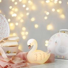 Sass & Belle Nočné LED svetlo do detskej izbičky Labuť